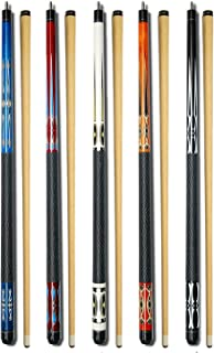 Set of 5 Pool Cues Billiard House Bar Pool Cue Sticks