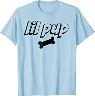 Mens LIL PUP - dog puppy silhouette, pup play fetish T Shirt