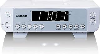Lenco KCR 11   Küchenradio   Unterbauradio   LED Display   5 Sender Speicherplätze   inklusive Montagesatz   weiß