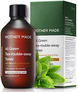 MOTHER MADE All Green Tea-Rouble-Away Hydrating Balancing Organic Green Tea Facial Toner with Botanical AHA...