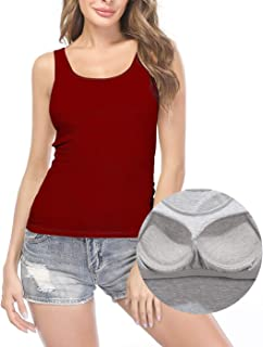 Camisoles for Women with Built in Bra, Summer Sleeveless Tank Top Padded Bra Women cami for Yoga,Daily Wearing