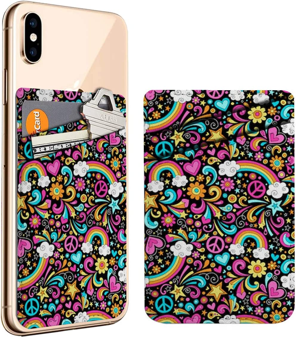 Rainbows Psychedelic Groovy Cell Phone We OFFer at cheap prices Card Stick On Credit Houston Mall ID