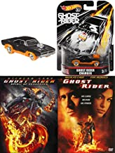 Charger from Hell Super Hero Movies Marvel Ghost Rider 1 & 2 Spirit of Vengeance DVD & Hot Wheels Car Black with Flames Double Feature