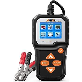 ANCEL BA301 6V 12V Battery Load Tester Car Alternator Analyzer Cranking Charging System Test Tool for Motorcycle Car Boat Light Truck and More