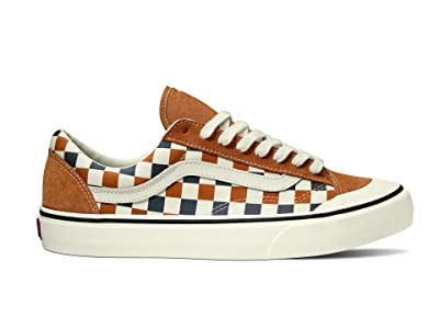 Vans Style 36 Decon SF ((Checkerboard) Pumpkin Spice/Marshmallow) Men