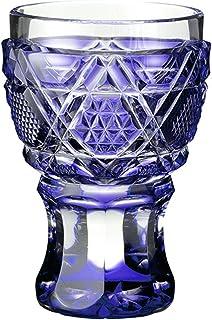 山下工芸 薩摩切子 馬上杯 金紫 φ5.8×8.2cm 13041270