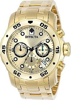 腕時計 インヴィクタ Invicta Men's 0074 Pro Diver Chronograph 18k Gold Plated Stainless Steel Watch【並行輸入品】