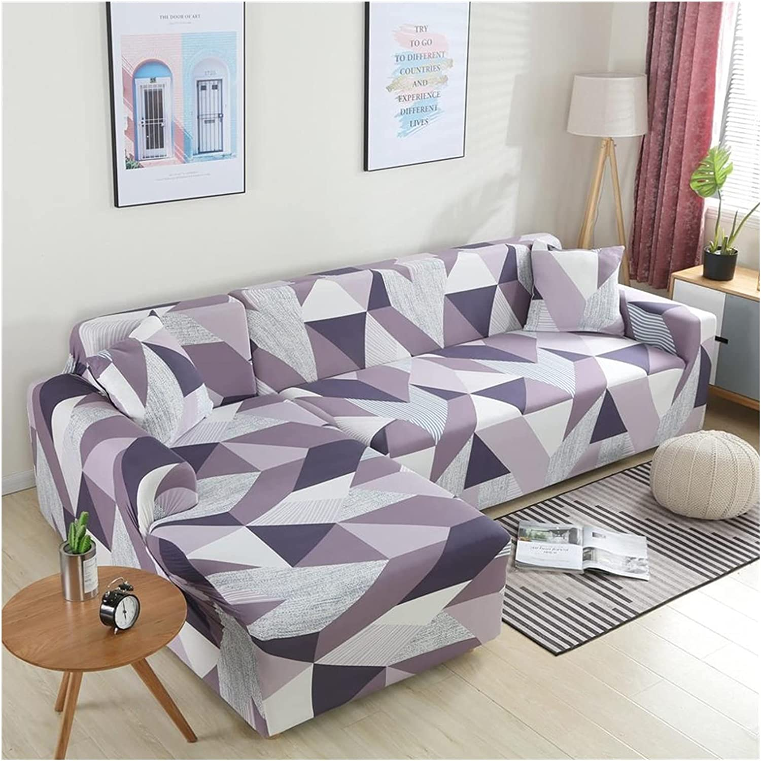 Store Sofa Arlington Mall Cover Elastic Sectional L-Shape Slipcover Corner Couch