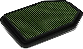 For Jeep Wrangler 3.6L / 3.8L Reusable & Washable Replacement High Flow Drop-in Air Filter (Green)