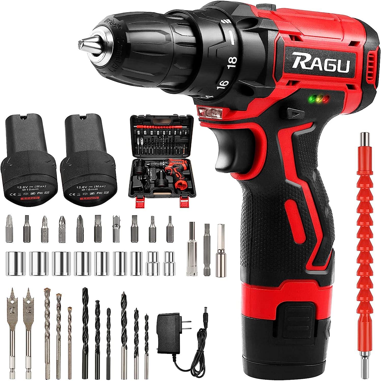 RAGU Cordless Drill Set 12.6V Kit Rare 2 with Don't miss the campaign Batteri