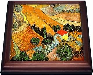 3dRose trv_48156_1 Van Gogh Landscape Trivet with Ceramic Tile, 8 by 8