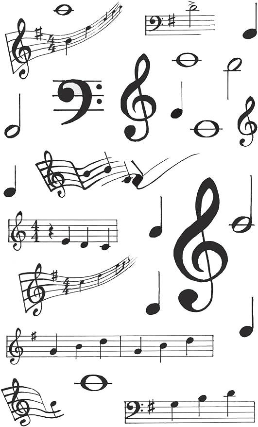 Maildor Cooky Pegatinas 7,5 x 12 cm Nota musical