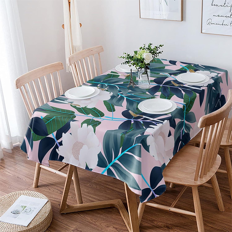 Rectangle Tablecloth Max 59% OFF 53x70 Super sale period limited inch Waterproof Heatproof Cott Rustic