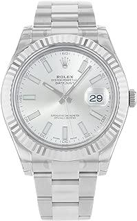 Datejust II 41mm Steel Silver Dial Men's Watch 116334
