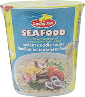 Lucky Me! Seafood Flavor Noodle Soup Cup, 70 gm