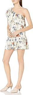 MINKPINK Women's Garden Party Floral Print One Shoulder Dress
