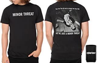 Minor Threat We're Just A Ian MacKaye Men's Black T-Shirt + Coolie