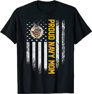 Vintage USA Proud US Navy Mom American Flag Patriotic Gift T-Shirt