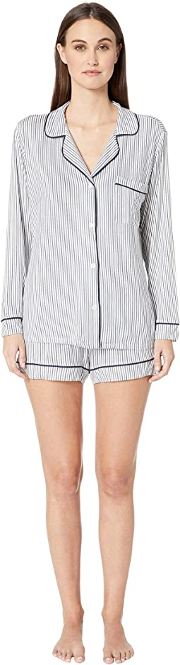 Sleep Chic-The Long Sleeve Shorts PJ Set