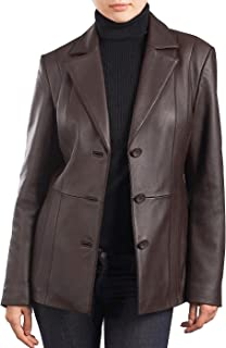 Best brown leather blazer womens Reviews