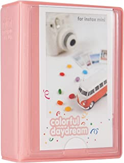 Woodmin 28+1 Pockets Mini Polaroid Photo Album for 3 inch Pictures by Fujifilm Instax Mini 8 8+ Mini 9, Snap, Zip, Z2300, Bank Card, Business namecard Book (Pink)
