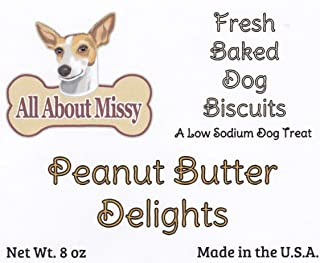 Low Sodium Dog Treats - Peanut Butter Delights 8 oz. - For dogs with CHF
