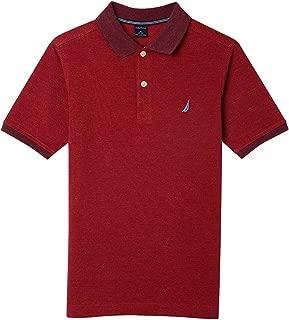 Boys' Short Sleeve Tonal Stripe Deck Polo Shirt
