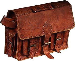 Hell Blues Handmade Vintage Leather DSLR SLR Shockproof Camera Shoulder Messenger Bag Brown