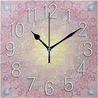 Mika アラベスク 壁掛け時計 掛け時計 壁掛け おしゃれ オシャレ 四角型 スクエア 四角形 リビング オフィス ウォールクロック 壁時計 正方形 20cm