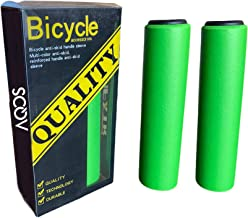 AQOS Puños Bicicleta, 2 Unidades, montaña, MTB, Silicona, Grips, Mangos, Manguitos, empuñaduras, Manillar, Bici, Mountain Bike, Ciclismo, Paseo, Espuma, ergonomicos, BMX, Universal.