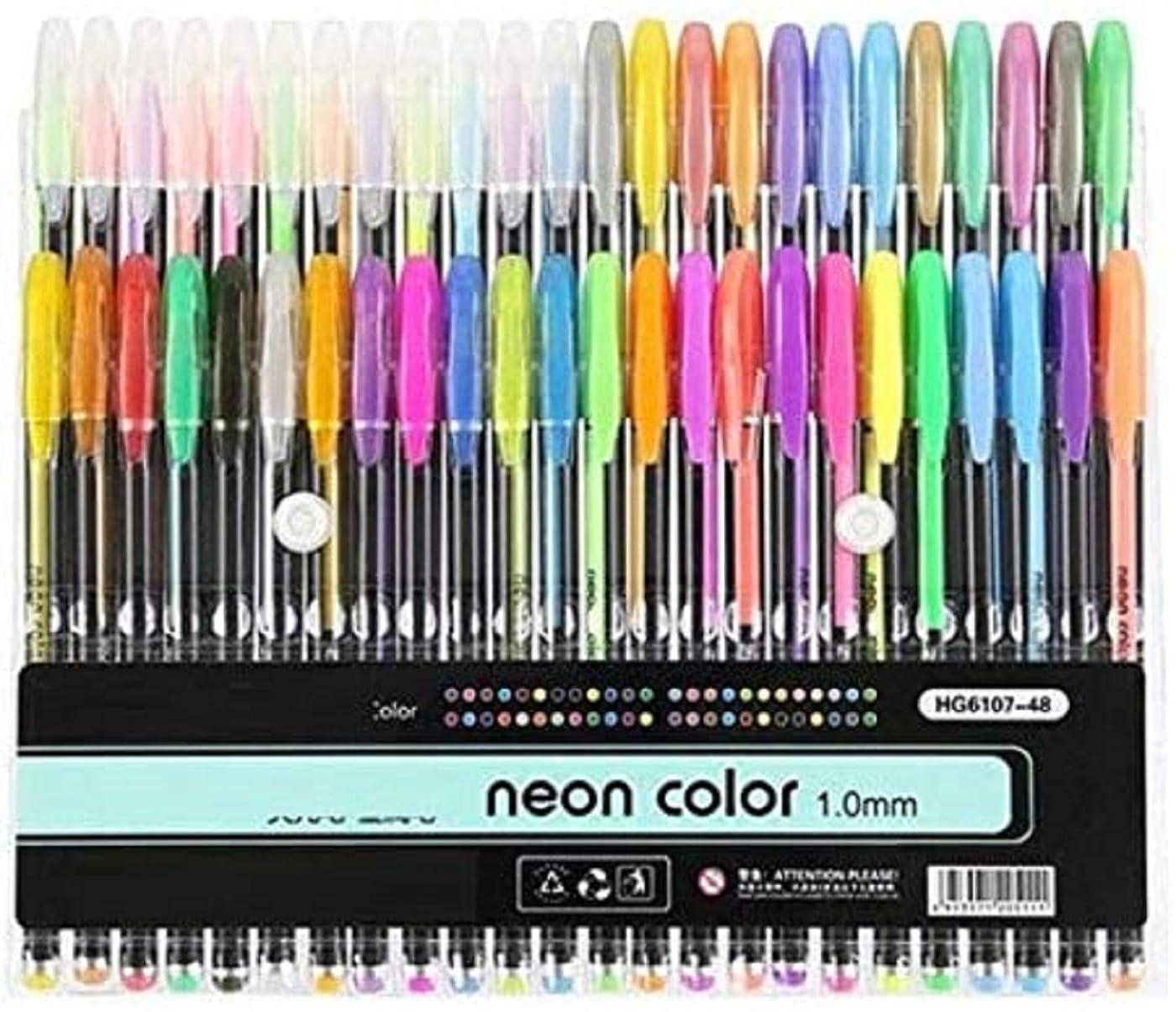 怒って。スカートNexxa 36 Colors Gel Pens Glitter Gel Pen for Adult Coloring Books Journals Drawing Doodling Art Markers