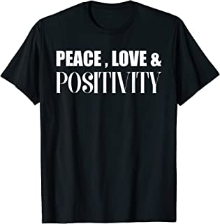 Best peace love and positivity shirt Reviews