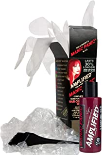 Manic Panic Vampire Red Amplified Hair Coloring Kit - Vegan Semi-Permanent Red Hair Dye Cream, 3X Pigments & Lasts 30% Longer Than Our Classic Formula (6-8 Weeks), PPD & Ammonia-free - Ready to Use