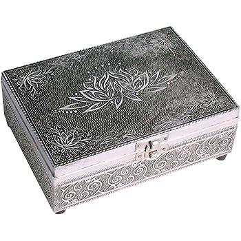 Purity - Cajas de madera estilo oriental con decoración de metal, marrón, Jar 15x15: Amazon.es: Hogar