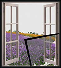 Verstelbaar magnetisch venster scherm Duurzaam glasvezel venster Mesh afneembaar en wasbaar met eenvoudige DIY-installatie...