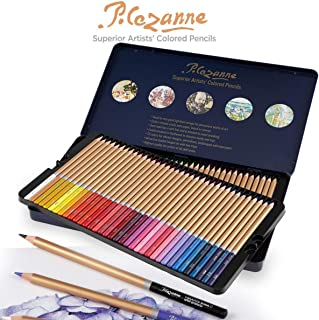 Cezanne Colored Pencils Professional Set of 72 Colors, Artist Quality Soft Feel Core for Drawing Art, Sketching, Shading & Coloring - Metal Gift Tin Box