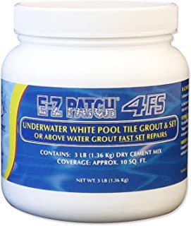 E-Z Patch 4 Fast Set Underwater or Above Water White Pool Tile Grout Repair Kit - 3 Pounds