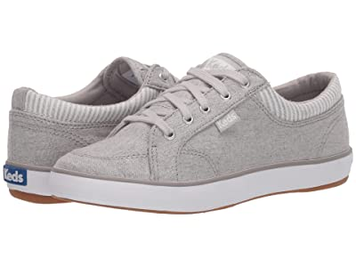 Keds Center Chambray/Stripe (Light Grey) Women