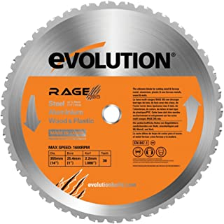 Evolution Power Tools RAGE355Blade Multi-Purpose Cutting Blade for RAGE2, 14-Inch