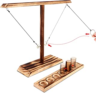 FiGoal Toss Games for Adults and Family with Ring and Slot Ladder Bundle Fast-Paced Interactive Loop Hooks Toss Game for I...