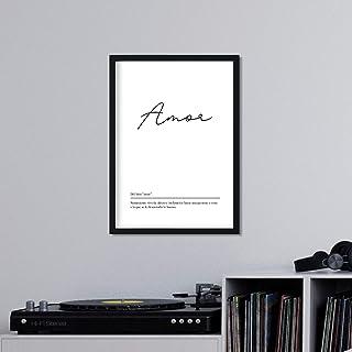 Nacnic Lámina con la definición de la Palabra Amor en tamaño A4 sin Marco con Fondo Blanco nórdico