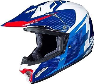 HJC CL-XY II Argos Jugend Motocross Helm Weiß/Blau Y/M 51/52