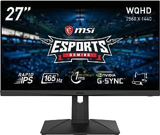 MSI Optix G273QPF ゲーミングモニター 応答速度1ms(GtoG) 実現 Rapid IPSパネル スリムベゼル WQHD/27インチ/165Hz/1ms(GtoG)/G-Sync Compatible/HDMI2.0/DP/3年保証
