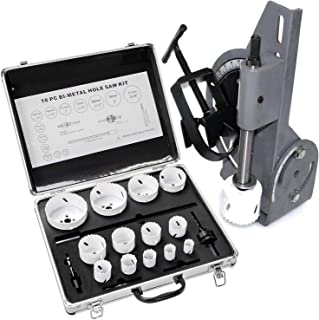 9TRADING 60 Degree Tube & Pipe Notcher with 18 pc Bi-Metal Hole Saw 3/4