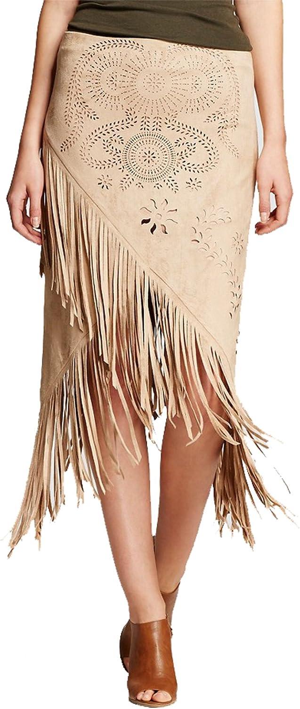 Bagatelle City Women's Faux Suede Midi Skirt