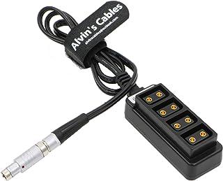 Alvins Cables 3 Pin Fischer RS a 4 Puertos D-Tap Hembra Cable para ARRI Cámaras 72cm