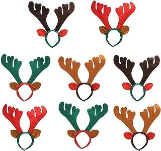 FEE-ZC 8Pcs Reindeer Antlers Headband Headbands for Christmas Headband Xmas Headband Hair Hoops for Christmas Costume Part...