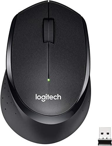 Logitech M330 Silent Plus Wireless Mouse, 2.4GHz with USB Nano Receiver, 1000 DPI Optical Tracking, 3 Buttons, 24 Mon...