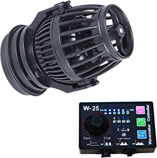 Uniclife 2100/3400 GPH Controllable Wavemaker with W-25 Controller and Magnet Mount for Marine Freshwater Aquarium Circulation Pond