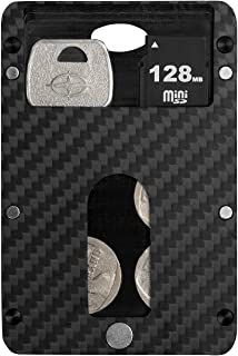 Magwallet,Minimalist Slim Carbon Fiber Modular Card Holder RFID Blocking Wallet-Matte Finish/Twill